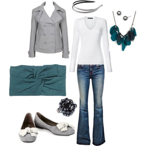 dark teal deliciousnessShoes, Colors Combos, Fashion, Style, Clothing, Grey, Necklaces, Cute Outfit, Dark Teal