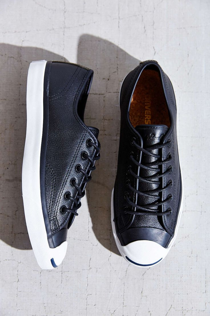 Converse Jack Purcell Tumbled Leather Low-Top Sneaker - Urban Outfitters