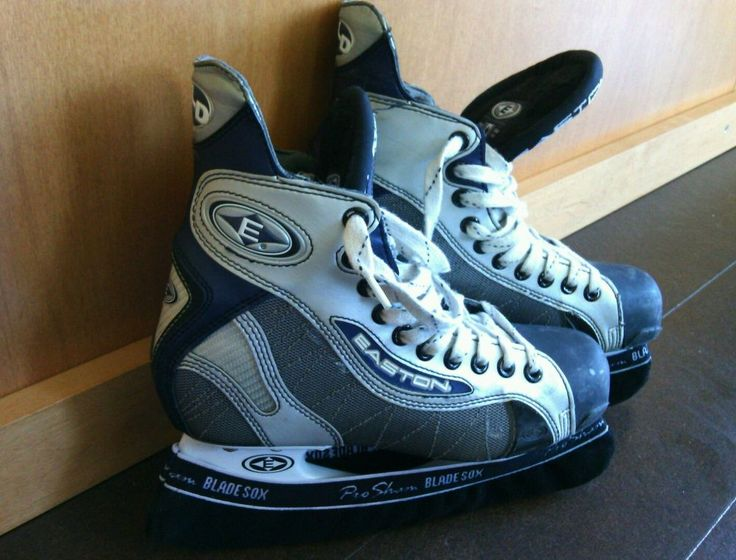 Ice Hockey Skates Easton XLD Razor Bladz II Stainless Steel Size 6 D Dry Flow   | eBay