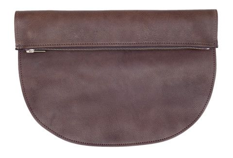 RAGS TO RICHMOND CLUTCH IN CHOCOLATE