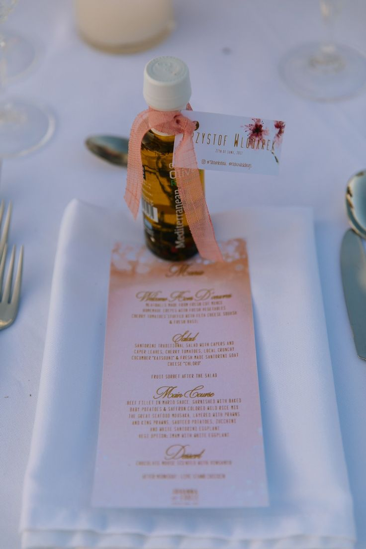 Olive Oil, Favors, Gifts, Love, Detail, Menu, Details, Style, Santorini Weddings