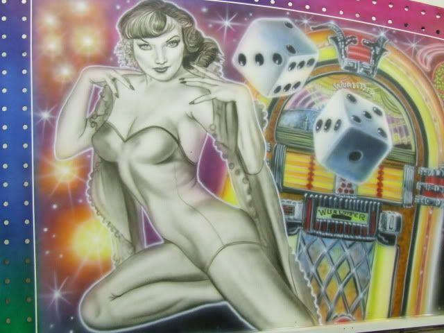 50's style fairground art
