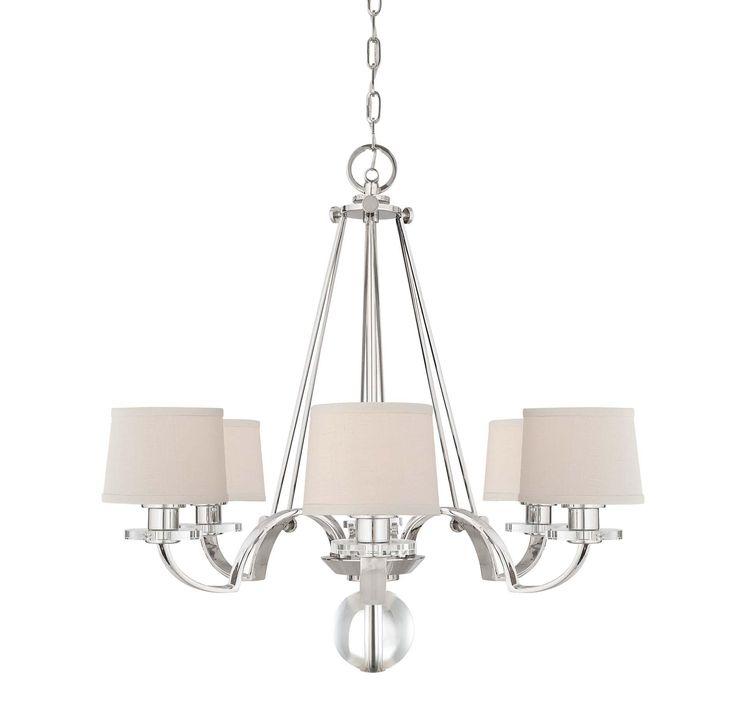 Quoizel UPSP5006IS Uptown Sutton Place 6-Light Chandelier in Silver in Ceiling Lights, Chandeliers, Indoor Chandeliers: LeeLighting.com