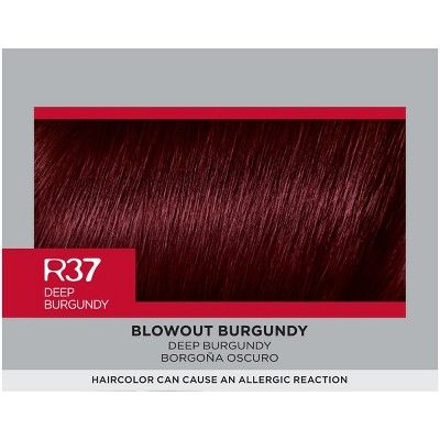 L'Oreal Paris Feria Multi-Faceted Shimmering Color Power Reds - R37 Deep Burgundy - 1 kit, Power Reds R37 Deep Burgundy