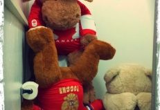 The Moose is Loose and giving swirlys in Sochi!!!  This is what happens when bears take selfies in public toilets!