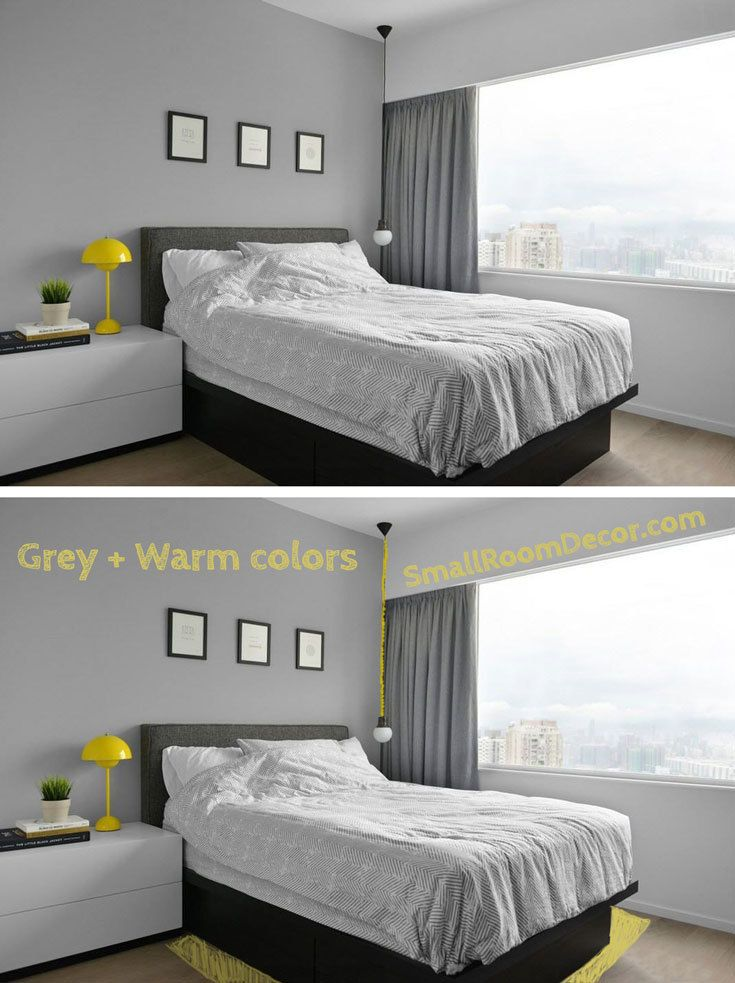 9 Small Bedroom Color Ideas 35 Photos Accent Wall Paint Combinations Small Bedroom Colours Gray Accent Wall Bedroom Bedroom Colors