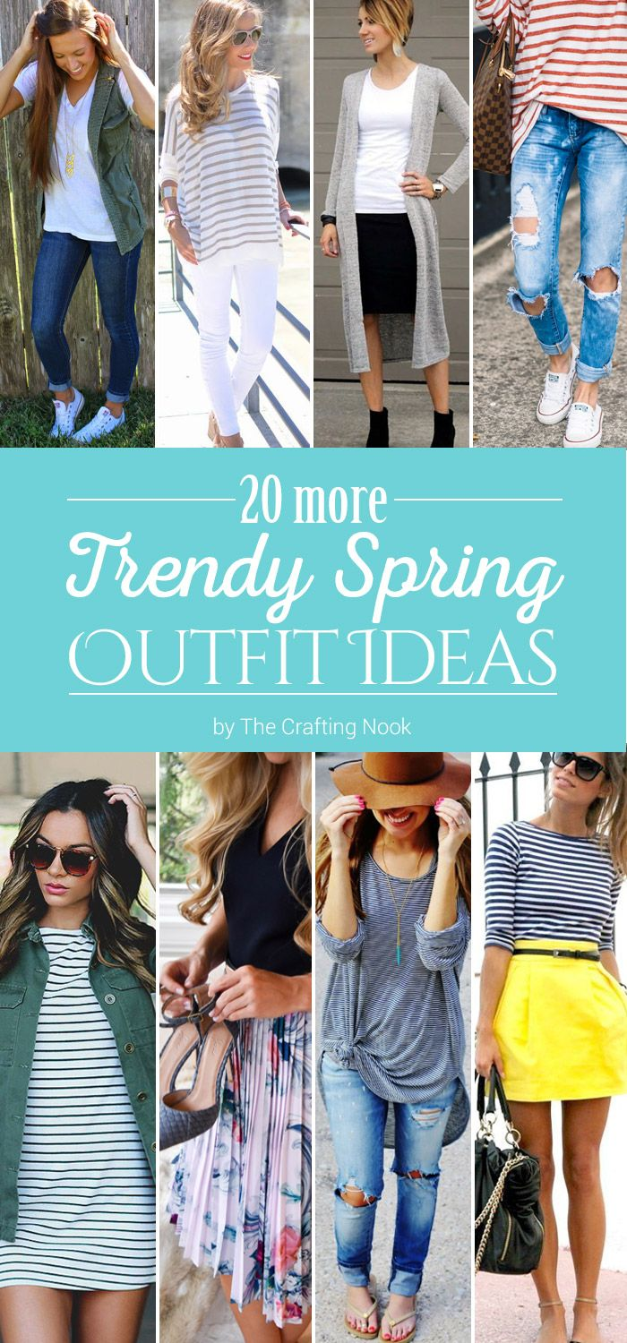 Spring is here! With it comes the desire to look fresh and gorgeous. These 20 Trendy Spring Outfit Ideas will give you lots of Inspiration!