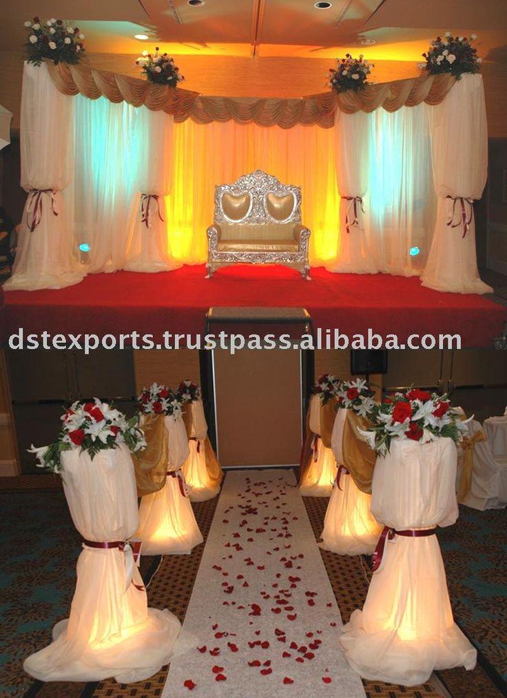 wedding stage decoration pics%0A indian wedding stage decor diy  Google Search