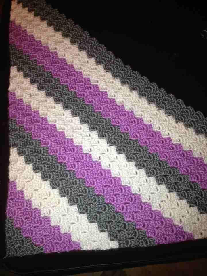 C2c I Love The Colors Crochet Afghans 4 Stripes