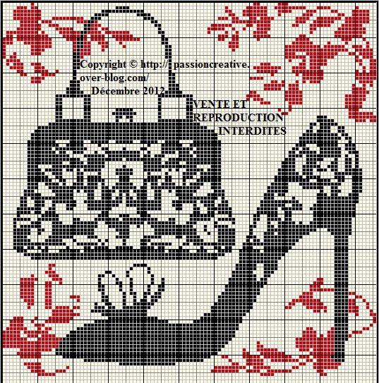 chaussure - shoes - sac - point de croix - cross stitch - Blog : http://broderiemimie44.canalblog.com/