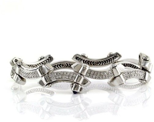 Philippe Charriol 18K White Gold & Diamond Bracelet