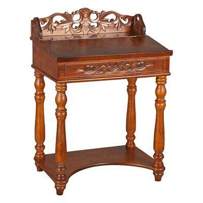 International Caravan 3836 St Carved Wood Small Writing Desk