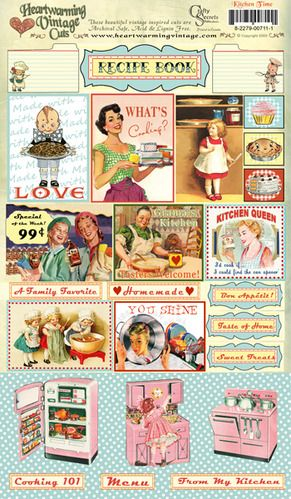 Kitchen Time Vintage Cuts picture (printed on cardstock, not a stamp but oh so lovely images), $1.50 from Crafty Secrets