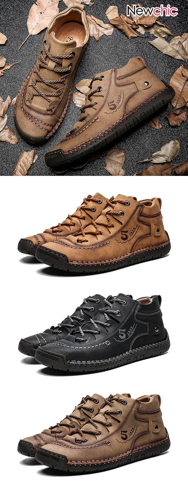 men fashion casual boots. #outdoorfashion #casuals…