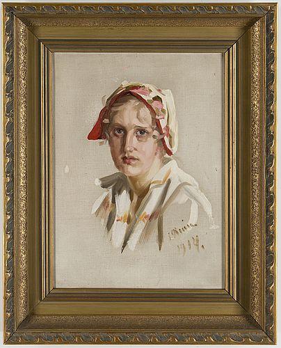 Kvinnoproträtt - Ingrid Ruin (1881-1956)