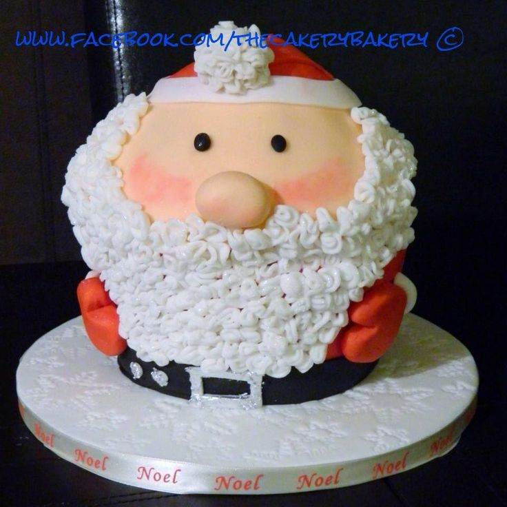 christmas santa giant cupcakes