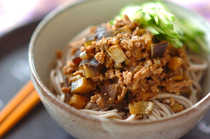 ナスと肉みその和えそばのレシピ・作り方 - 簡単プロの料理レシピ | E・レシピ
