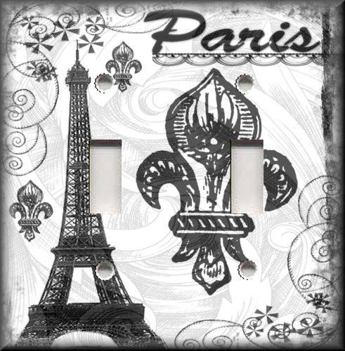 Light Switch Plate Cover Ooh La La Paris Black and White Home Decor | eBay---For the guest room and guest bathroom