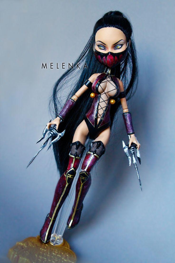#armor #cleo #custom #denile #doll #high #kombat #mileena #mk #monster #mortal #ooak #repaint #sai #sword #teeth #warrior #cleodenile #melenka