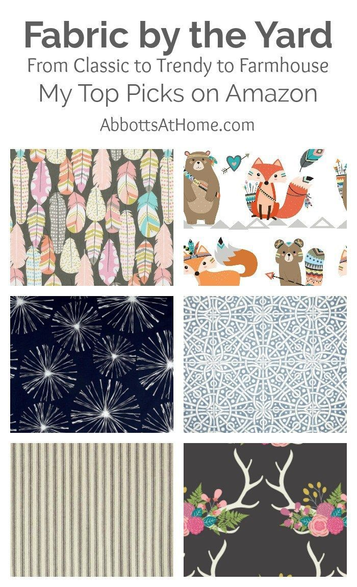 Discount outdoor fabric by the yard - Did You Know You Can Buy Fabric By The Yard On Amazon I Found A