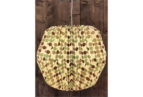 Fairtrade origami papieren lamp.  Duurzaam geproduceerd.  Afb: vintage dots.  Afm:  c.a. Hoogte: 33 cm  Breedt:  38 cm. www.katooenzoo.nl