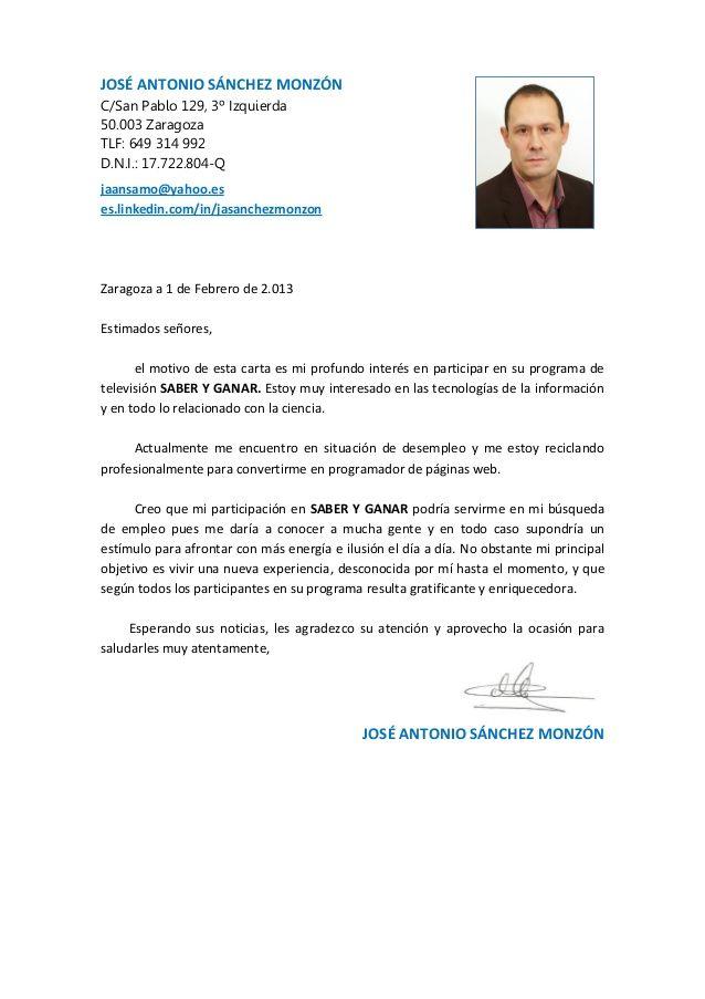 Curriculum Vitae Y Carta De Presentación Modelo De Curriculum Vitae