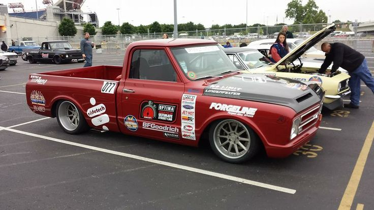 The Smitty's Custom Automotive Chevy C-10 on Forgeline RB3C wheels is racing at Goodguys Rod & Custom Association Nashville this weekend.