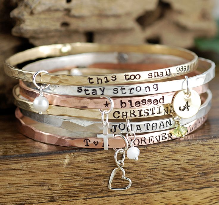 Lovable Keepsake Gifts, a trusted online store for personalized jewelry. Get the perfect gift for your loved ones!  Hand Stamped Jewelry, Personalized Necklaces for Mom, Bangle Bracelets.  Sterling silver, 14kt gold filled, Copper, Pewter and much more.