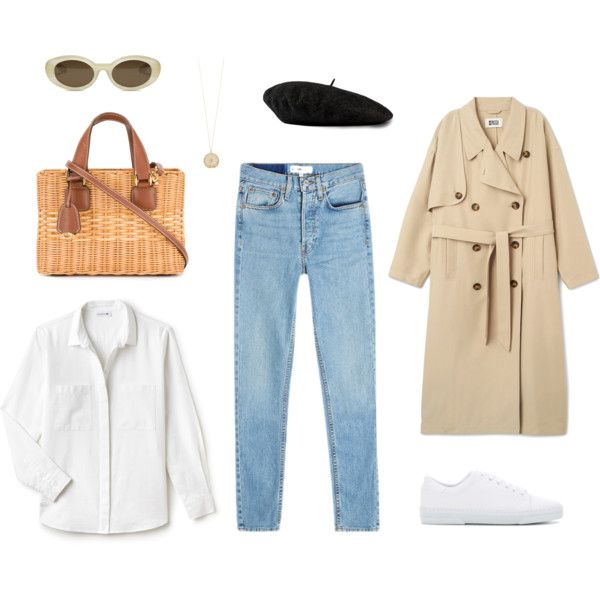 A fashion look from March 2017 featuring Lacoste blouses, RE/DONE jeans and A.P.C. sneakers. Browse and shop related looks.