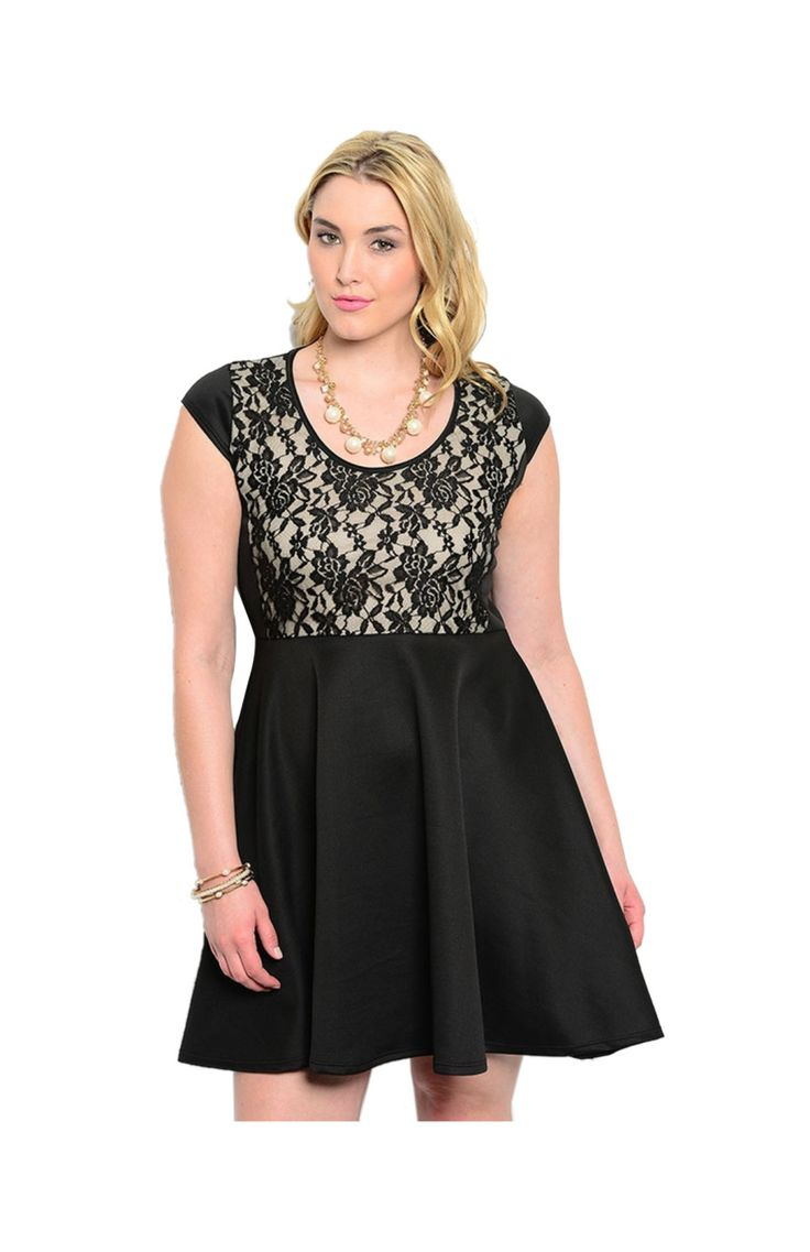 plus size fit and flare cocktail dress gallery