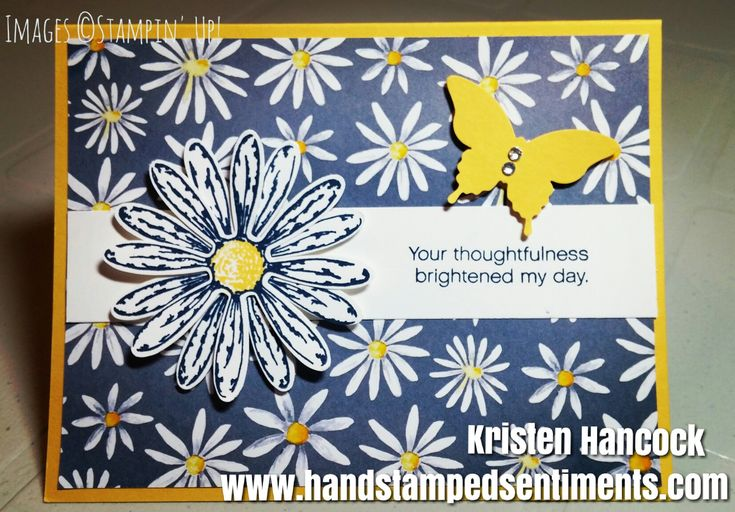 Daisy Delight Stampin' Up! Annual Catalogue 2017-2018 #daisydelight #stampinup #handstampedsentiments