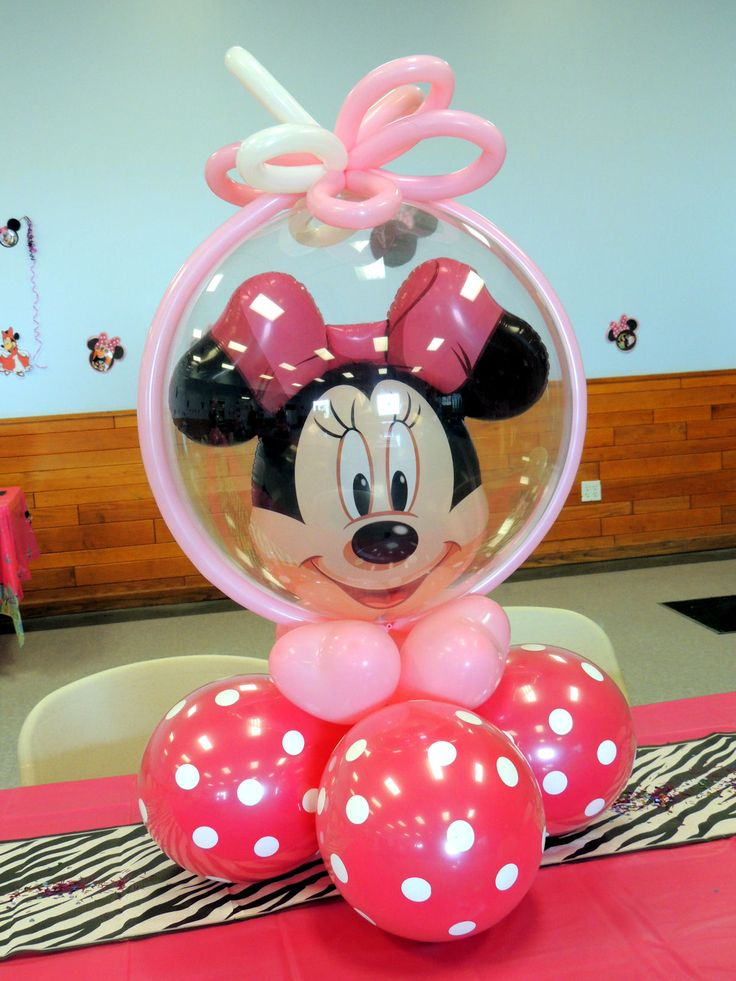 490 best images about festa da minnie michey on pinterest for Balloon decoration minnie mouse