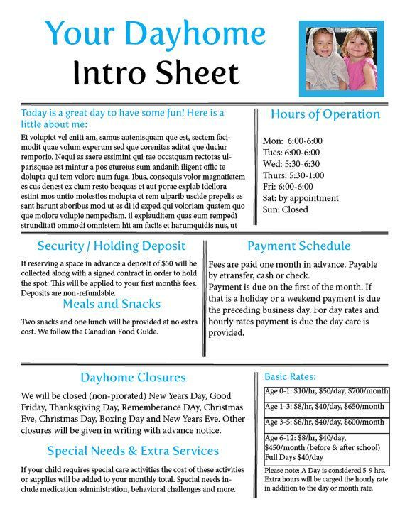 32 best Daycare images on Pinterest Daycare ideas, Day care and - fresh 6 daycare profit and loss statement template
