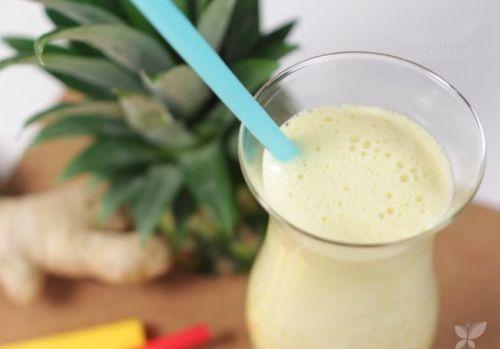 Suco de abacaxi com gengibre para tratar a celulite