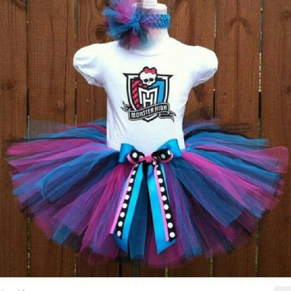 Monster high tutu set All sizes monster high tutu set I make Other