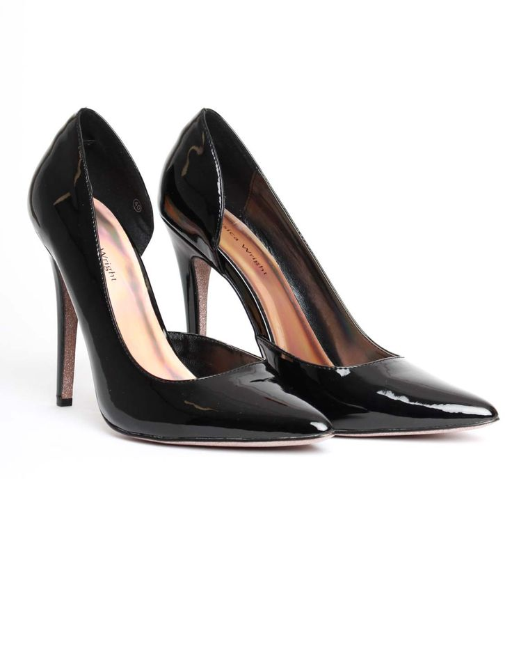 Jessica Wright Black Amarale Patent Heels | Accent Clothing