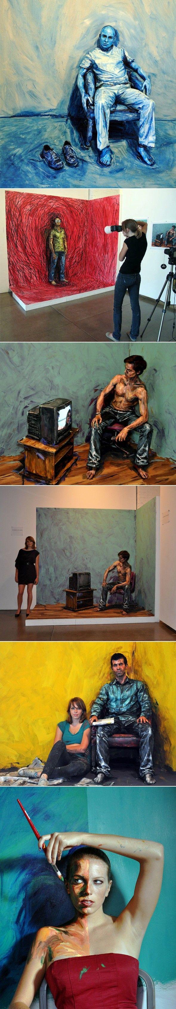ART >>> Incroyable body-painting par Alexa Meade