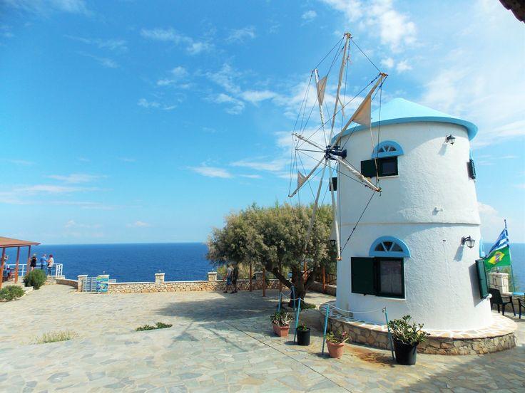 Old windmill into hotel. Skinari, Zakynthos, Greece. 2015