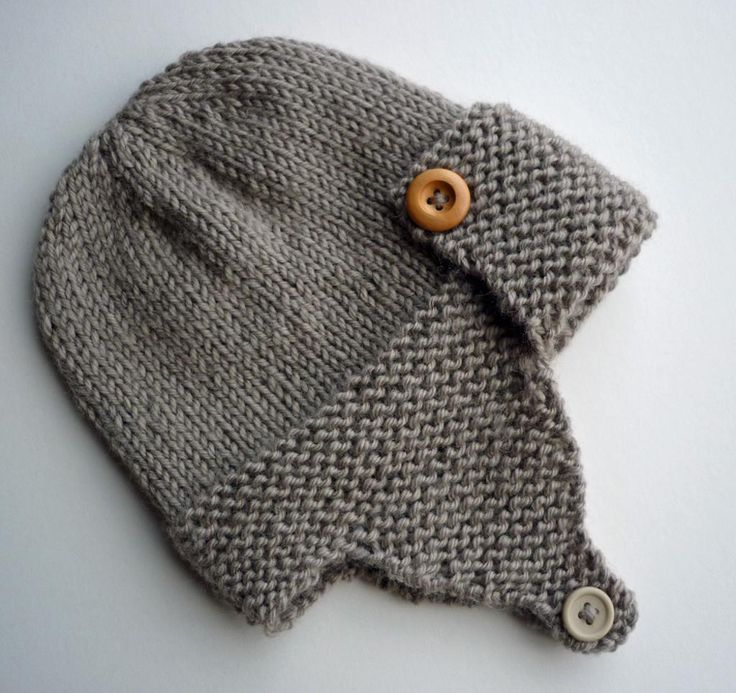 Knit Baby Hats Patterns : Best 25+ Aviator hat ideas on Pinterest Baby boy knitting patterns, Kids ha...