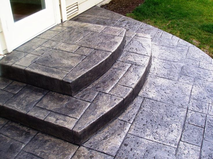 Stamped Concrete Siding : Best images about stamped concrete on pinterest