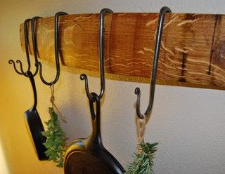 Wine Stave Pot Racks - traditional - pot racks - other metro - by Buddha Barrels