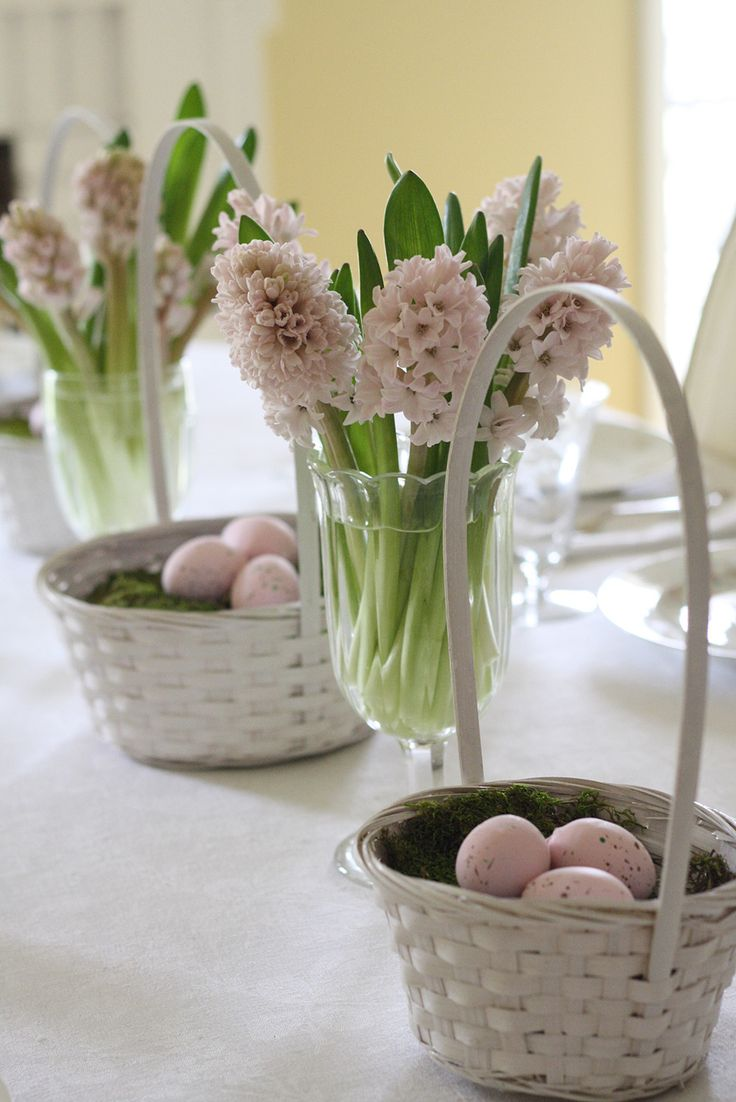 Elegant Make Your Easter Table Setting Sweet And Endearing With White Wicker  Baskets, Eggs And Flowers. You Wonu0027t Believe How Simple It Is To Set A  Swoon Worthy ...