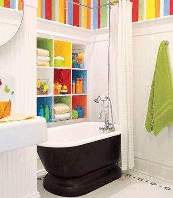 bright bathrooms | Kids Bathrooms, Playful and Safe Bathroom Design Ideas