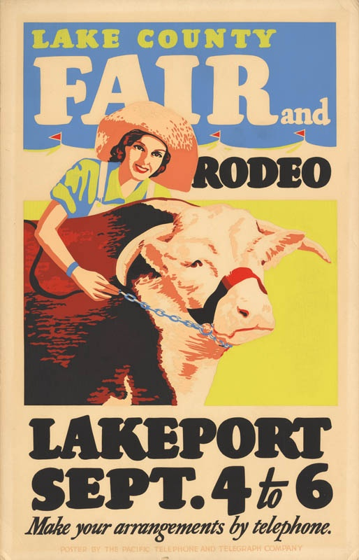 Lake County Fair and Rodeo, Lakeport, 193?