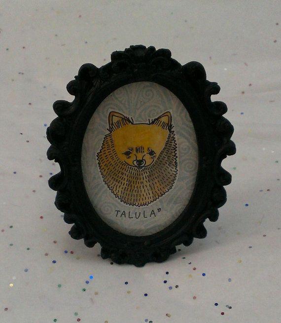 Confetti Monster Designer: Jaclyn DuBois Custom Mini Framed Pet Portrait