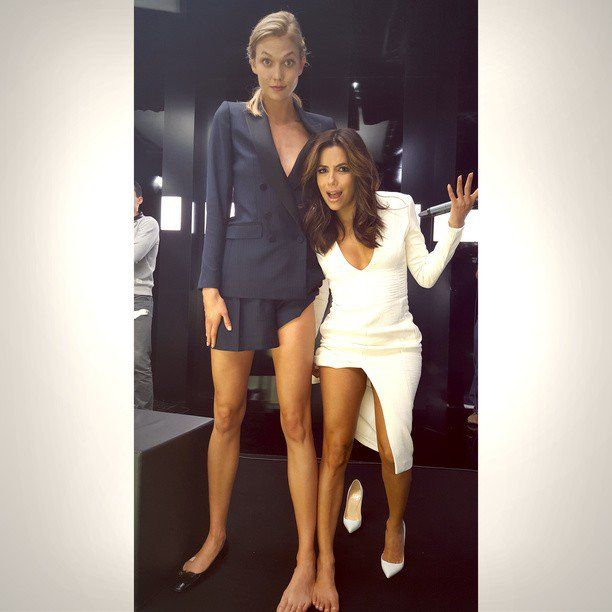 Pin for Later: This Week's Cutest Celebrity Candids Eva Longoria Eva Longoria showed the height difference between her and Karlie Kloss.