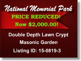Featured Cemetery Listing - National Memorial Park - Falls Church, VA - 15-0819-3