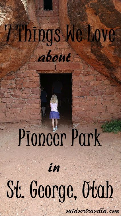 New on the blog!  Our family of four spent a week in St. George, Utah. Throughout our stay, we would often stop at Pioneer Park. Here are 7 things we loved about Pioneer Park. #Utah #familytravel #tmom