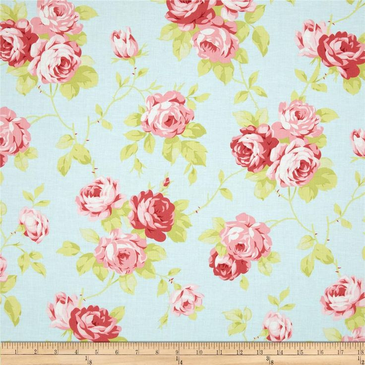 18 best shabby chic fabrics images on Pinterest | Shabby chic ... : rose quilt fabric - Adamdwight.com