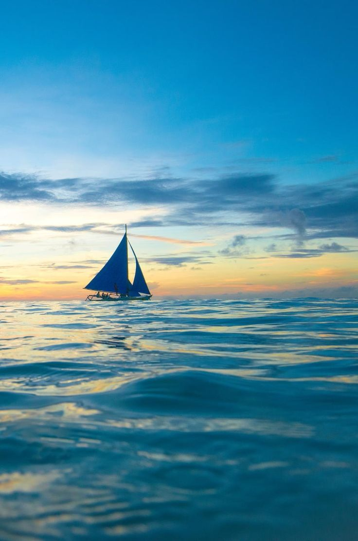 0ce4n g0d sailing boat in sunset by joseph chen